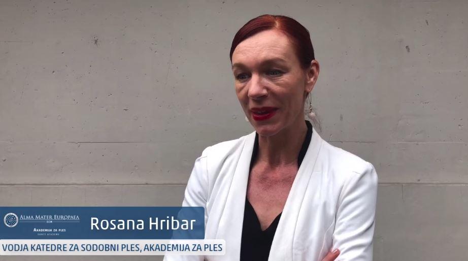 Vodja katedre za sodobni ples, Rosana Hribar